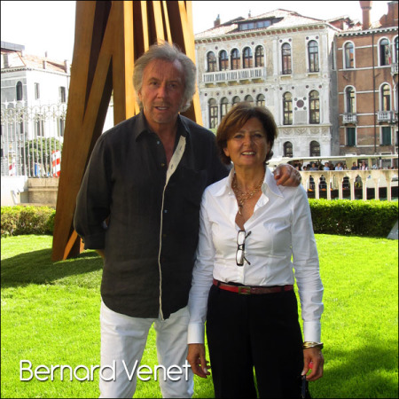 Bernard Venet, at Glasstress Venice, May 2015.