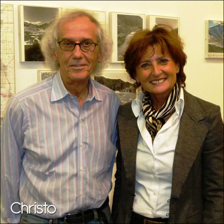 Christo in his New York Studio,October 2011.