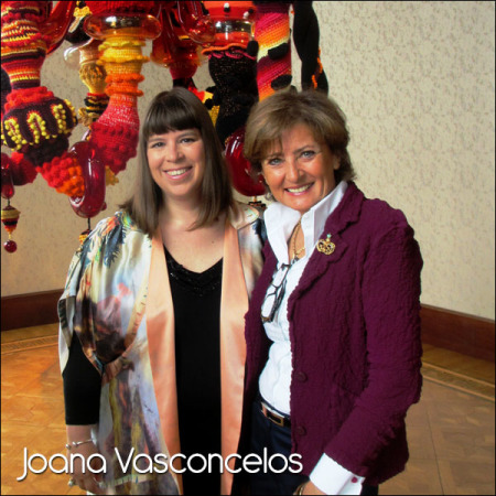 Joana Vasconcelos at Glasstress Venice , June 2013.