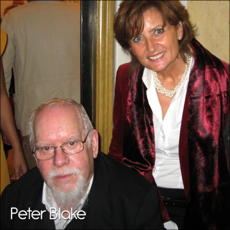 Peter Blake's opening at the Rizzo gallery, Venice, October 2010.