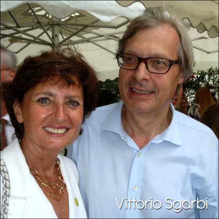 Vittorio Sgarbi at the Venice Guggenheim, September 2012.
